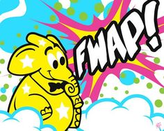 Fwap- exclusive fabric wall decal (Poster that Sticks) by Sket-One. $39