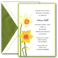Daffodil Invitations