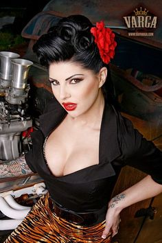 pinup  Pinup Girl  http://thepinuppodcast.com features pinup models and pin up photographers.