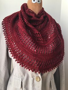 Rioja by Hilary Smith Callis, knitted by KnitsterMonika   malabrigo Sock in Tiziano Red