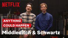 Middleditch And Schwartz Teach Intro To Improv British English, American English, Ben Schwartz, Body Fluid, Human Body, Laughter, Netflix, Comedy, Tv Shows