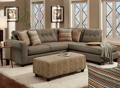 Fandango Mocha Sectional Living Room Set - Berrios te da más