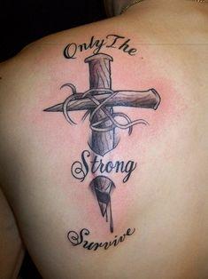 Back Cross Tattoo for Men