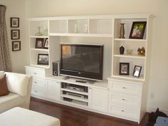 Tv entertainment unit ideas large entertainment unit family room entertainment center ideas images closets and cabinets . Tv Entertainment Centers, Muebles Living, Tv Decor, Home Decor, Decor Inspiration, Built Ins, Ikea Hacks, Mall, New Homes