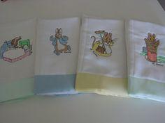Beatrix Potter Peter Rabbit Burp Cloths by grandmasbabyboutique, $25.00