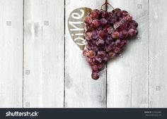 Photo of heart shape blue vine grapes