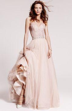 Watters 'Ahsan' Tulle Skirt in Rose Quartz/Rose Glow | Nordstrom