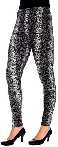 Womens Black  White Snow Leopard Print Leggings >>> You can get more details by clicking on the image.  This link participates in Amazon Service LLC Associates Program, a program designed to let participant earn advertising fees by advertising and linking to Amazon.com.