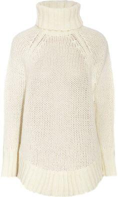 c2c503ed95 ShopStyle  MICHAEL Michael Kors Poncho-style open-knit sweater Poncho Style