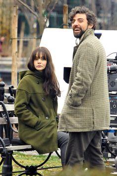 """Carey Mulligan and Oscar Isaac on location in New York for """"Inside Llewyn Davis"""""""