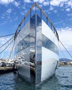 @starck designed @feadship superyacht Venus as seen in Mallorca by @alvaroaparicio More photos on the link in bio