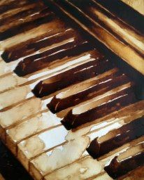www.keithwjohnson.com Contact me for commissions or to purchase  my art at draggingsticks@gmail.com Piano Painting Coffee on paper