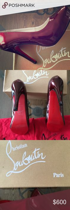 4d47eac99866 CHRISTIAN LOUBOUTIN BURGUNDY RED BOTTOM PUMPS👠 Perfect condition! Not a  scratch on them! Christian Louboutin Shoes Heels