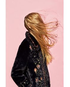 EMBROIDERED FAUX FUR JACKET
