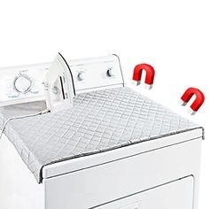 Evelots Double Strength Magnetic Ironing Mat 33'19' On Dryer,Sturdy Quilted Pad, Silver