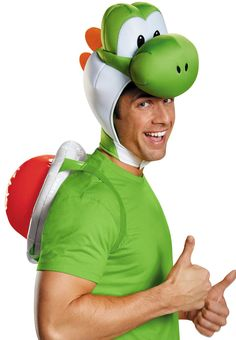 Super Mario Bros: Yoshi Costume Kit For Adults from Buycostumes.com