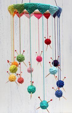 Knitting Mobile - Free PDF Pattern here: http://planetpenny.co.uk/wp-content/uploads/2013/06/Knitting-Mobile.pdf