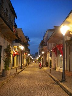 Ioannina, Greece - Kaniggos street.  Autumn afternoon