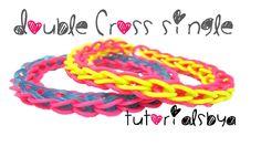 Double Cross Single Rainbow Loom Bracelet Tutorial (+playlist)