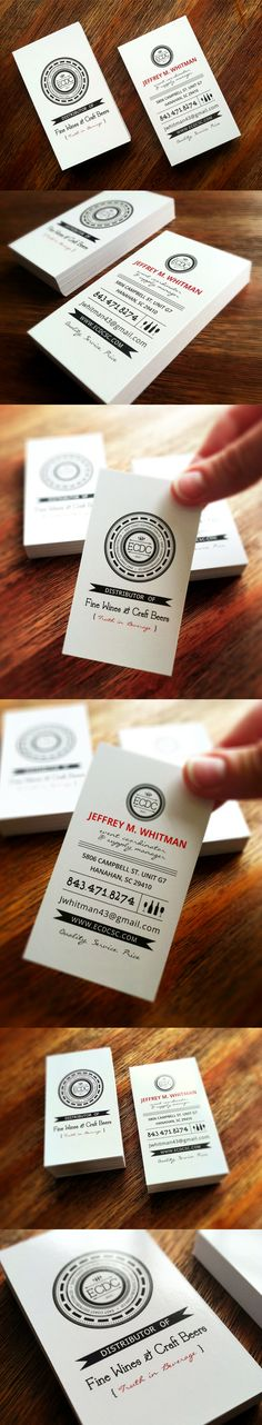 Business card design for East Coast Distribution Co. Design by DesAutels Designs. Printing done by Print Management Solutions, Charleston SC. Business Cards Layout, Business Card Design, Bussiness Card, Communication Design, Creative Cards, Personal Branding, Portfolio Design, East Coast, Layout Design