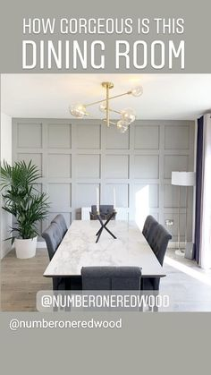 Dining Room Colour Schemes, Dining Room Feature Wall, Wood Dining Room, Open Plan Kitchen Living Room, Dining Room Wall Color, Dining Room Walls, Living Room Panelling, Farm House Living Room, Dining Room Paneling