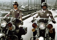 """ allows motorcycle riders the opportunity to ride two abreast in a lane like Ponch and Jon. BUT we suggest you ride staged for safety reasons. Larry Wilcox, Serie Dallas, 1980s Tv, 70s Tv Shows, Cop Show, The Monkees, Weird Pictures, Me Tv, Classic Tv"