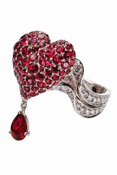 bleeding heart dior ring from the fiancee du vampire collection... ~<3~