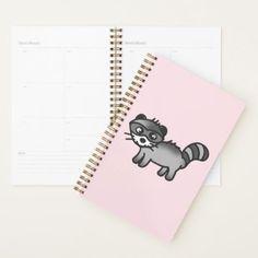 adorable raccoon animal cartoon planner - animal gift ideas animals and pets diy customize