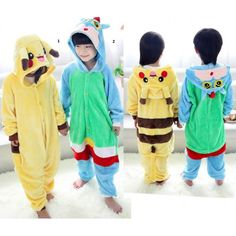 Crayon Shin-chan Pikachu Onesies Kigurumi Sleep Suit Huispak