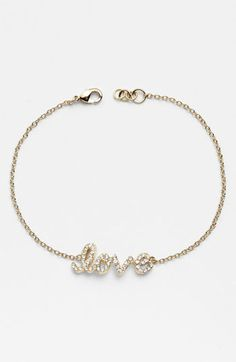 Ariella Collection 'Messages - Love' Script Station Bracelet available at #Nordstrom