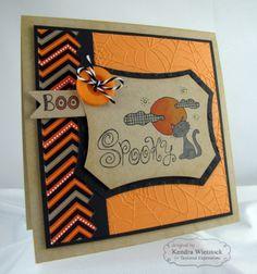 Spooky Boo! Card By: Kendra Wietstock #Cardmaking, #Halloween