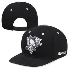 Reebok Pittsburgh Penguins Face-Off Snapback Hat - Black