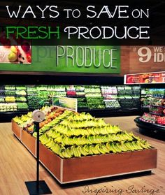 Fresh fruits & vegetables doesn't have to cost you a fortune. Here are my top tips for saving money in the produce section.