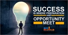 success is where preparation and opportunity meet #success #b2b #preparation #b2bbusiness #motivational Opportunity, Motivational, Success, Meet, Activities, Business, Store, Business Illustration