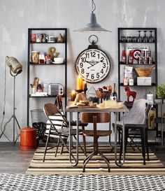 That's why we bring you the very best of this amazing world, and today you're going to learn all about how to have an industrial dining room style all on your o Industrial Style Kitchen, Vintage Industrial Decor, Industrial Dining, Urban Industrial, Dining Room Colors, Dining Room Lighting, Dining Rooms, Dining Tables, Cafe Interior