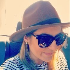 Our amazing co-founder Christina wearing the Harlem fedora on this sunny Saturday Amazing Co, Co Founder, Sunnies, Sunglasses Women, How To Wear, Image, Style, Fashion, Swag