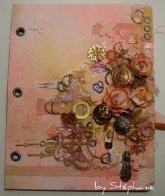 Prima goes inky with Finnabair - Scrap by Stéphanie