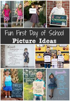 Any of these fun first day of school picture ideas will make great memories for your children as they go through each year of school.