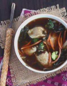 Thai Garden Chicken Wonton Broth Bowl Soups Pinterest Gardens Cabbages And Chicken Wontons