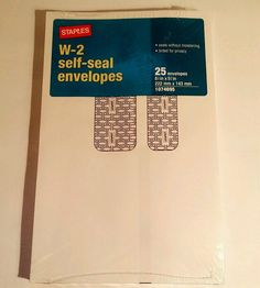 W - 2 Tax Self Seal Envelopes 2014 25 Pack #Staples #eBay #Auction #Sale #Wholesale #Products #tax #taxes