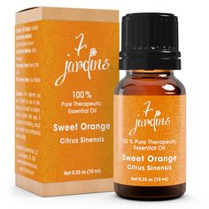 "7 Jardins Immunity Booster Therapeutic Essential Oil ★100% Pure Sweet Orange ""Citrus Sinensis"" (10 ml) ★Enhances Your Mood ★Protects & Heals Skin ★Enriched with Plant Based Natural Ingredients"