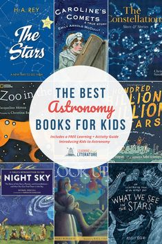 The Best Astronomy Books for Kids + a FREE Learning & Activity Guide. Includes tools for teaching your kids about constellations & astronomy! These beautiful STEM read-aloud books about the constellations and stars will captivate your kids. They are books about stars, astronomy, and space. Read Aloud Books, Good Books, Homeschool Books, Homeschooling, Science Books, Learn Science, Kids Reading, Book Lists, Learning Activities