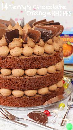 Chocolate Orange Ice Cream, Terrys Chocolate Orange Cake, Chocolate Orange Cheesecake, Chocolate Orange Cookies, Chocolate Desserts, Baking Recipes, Cake Recipes, Janes Patisserie, Cupcake Cakes