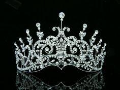 Pageant Bridal Wedding Rhinestone Crystal Tiara Crown - Silver Plated Clear Crystals T418 Venus Jewelry,http://www.amazon.com/dp/B00AZ5K9BU/ref=cm_sw_r_pi_dp_rNsgtb15H3VSZ1ZY