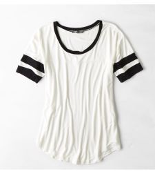 Don't Ask Why Football T-Shirt, White | American Eagle Outfitters