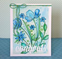Congrats card. SSS Spring Flowers stamp set