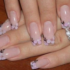 35 Simple Ideas for Wedding Nails Design Cute Nail Art, Cute Nails, Pretty Nails, Floral Nail Art, Wedding Nails Design, French Tip Nails, Stylish Nails, Stylish Eve, Fancy Nails