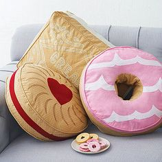 Biscuit Cushion - 50 less than ordinary ideas - Daughter or as an idea for her friend's birthday's, fun unusual gift but perfect for out there ideas.
