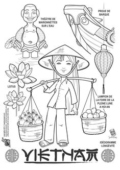 Vietnam paper doll to color Colouring Pages, Coloring Pages For Kids, Adult Coloring, Coloring Books, Kids Colouring, Harmony Day, World Thinking Day, Kids Around The World, Paper Dolls Printable