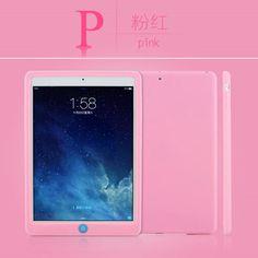 Soft silicone multicolor protective cover for inch Ipad Air 2, Ipad 4, Pink Lemon, Ipad Mini 3, Light Orange, Apple Ipad, Cover